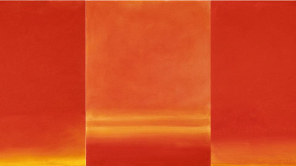 Valentino Vago, R12 – 51 (TRITTICO), olio su tela, cm 80×180, 2012