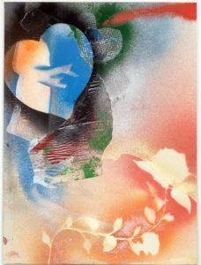 Giosetta Fioroni, Balcone Roma, tecnica mista su carta,cm 35x25, 2013