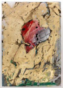 Giosetta Fioroni, Fanciulla altrove, tecnica mista su carta, cm 75x24,2000