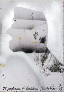 Giosetta Fioroni, Il professore di desiderio, tecnica mista su carta, cm 50x35,2009