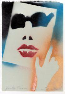 Giosetta Fioroni, il Silenzio, tecnica mista su carta, cm 50x35, 2012