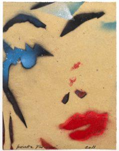 Giosetta Fioroni, Ricordo di lei, tecnica mista su carta, cm 36x28, 2011