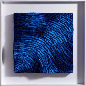 Lands pure pigment blù, 2019, paste cementizie, sughero, collanti, pigmenti puri su tavola, cm 55x55