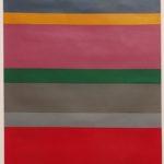 Rocco Borella, Complementari e toni, 1968, olio su cartone, cm 53x42