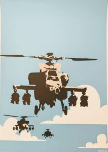 Banksy, Happy Choppers, serigrafia su carta, cm 70x50