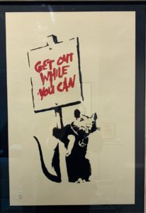 Banksy, Get out while you can, cm 50x35
