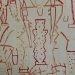 Cartone _ Acrilico su cartone _ Study for Mosaic III_202 x 152,5 _ 1984