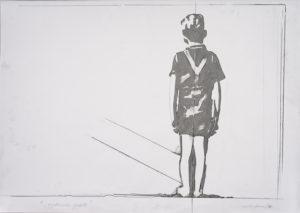 giosetta_fioroni-aspettando_godot-1970-vernice_alluminio_e_matita_su_carta-100x70_cm