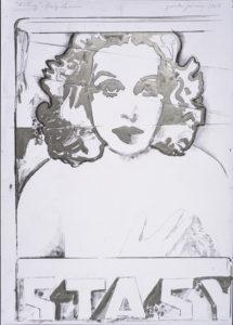 giosetta_fioroni-estasi_hedy_lamarr-1968-vernice_alluminio_e_matita_su_carta-100x70_cm