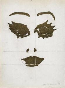 giosetta_fioroni-fisionomie-1969-vernice_alluminio_e_matita_su_carta-32x24_cm