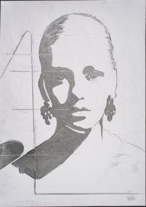 giosetta_fioroni-lo_sguardo-1970-vernice_alluminio_e_matita_su_carta-100x70_cm