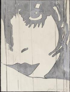 giosetta_fioroni-piccolo_liberty-1972-vernice_alluminio_e_matita_su_carta-41x31_cm