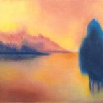 Yale Epstein - Blue Autumn - Polvere di marmo, pastello, matita - 28,5x36 cm