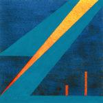 Yale Epstein - Geometric 16 - acrilico su carta - 15,24 x 15,24 cm