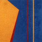 Yale Epstein - Geometric 17 - acrilico su carta - 15,24 x 15,24 cm
