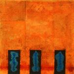 Yale Epstein - Geometric 27 - acrilico su carta - 15,24 x 15,24 cm