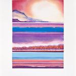 Yale Epstein - West Glow I - Acquaforte ritoccata a mano 36-40 - 90 x 68 - 60 x 45 cm