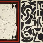 Lucio Del Pezzo – Rosebud, 1965 - collage e acrilici su legno, 51x72 cm