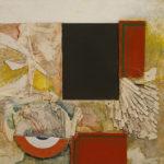 Lucio Del Pezzo - Senza titolo, 1962 - tecnica mista su tavola, 58x72 cm