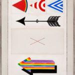 Lucio Del Pezzo, Senza titolo, 1964 - tecnica mista su carta, 104 x 69 cm
