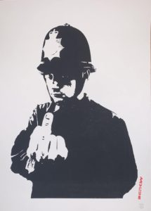 Banksy, Rude Copper, 2002, silk-screen print, cm 50x35