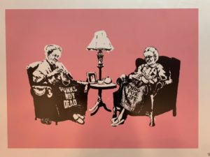 Banksy, Grannies, 2006, silk-screen printing, cm 50x70