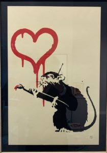 Banksy, Love Rat, 2004, silk-screen print, cm 50x35